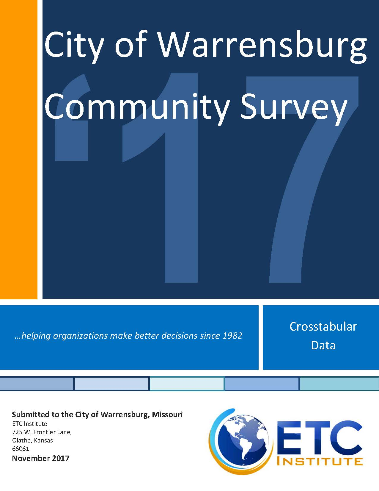 ETS CROSSTABULAR DATA REPORT