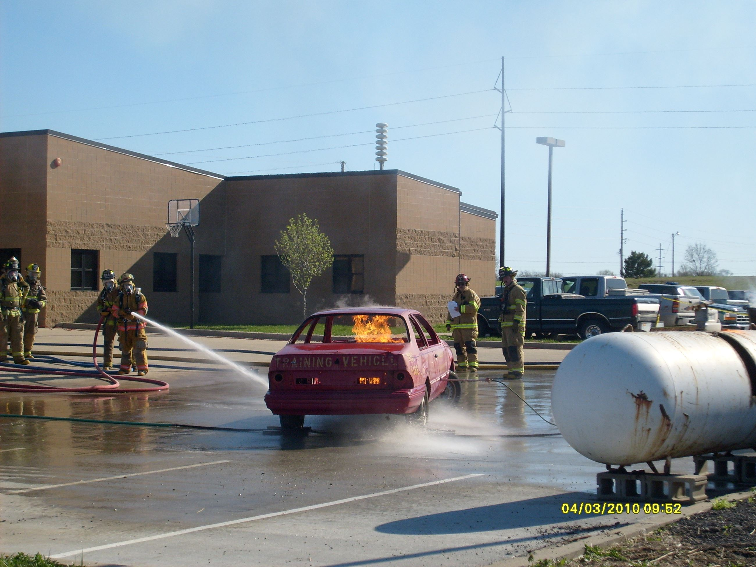 Training Car Fire