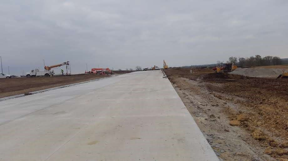 Veterans Road Extension Phase II (Looking East)